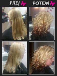 Prej in potem frizerska preobrazba